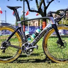 La bellezza di questa bici è indescrivibile! Saranno lei ed il suo proprietario @petosagan a trionfare sul traguardo di #ViaRoma della #MilanoSanremo? For more cycling news and photo go to follow my dear friend from @t0p_bikes! #PeterSagan #MSR #Specialized #BoraHansgrohe #WorldChampion @borahansgrohe @saganthechamp #IAMSpecialized #Sworks #SpecializedBikes #Sagan #StrongCycling #Cycle