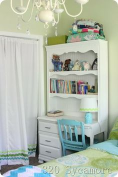 turquoise and lime green color scheme