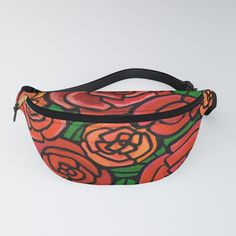 Red Rose Fanny Pack - The fanny pack is back! They say fashion is cyclical and those people probably held onto their old fanny packs—but for the rest of us looking for a rad new accessory to our party/festival/everyday look, look no further. Our fanny pack features an adjustable waist strap and is made from a durable yet comfortable canvas-like material. It's comfy enough for the everyday but durable enough to take on whatever kind of hikes you're into.   - Durable po... Everyday Look, Fanny Pack, Red Roses, Art Decor, Rest, Comfy, Colorful, Canvas, Party