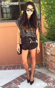 Stephanie's Denim Shorts Style  #REVOLVEcontest