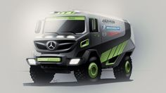 Mercedes Unimog Dakar Truck  |  Photoshop Render