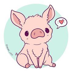Drawing kawaii animals art 24 Ideas for 2019 Drawing Animals Art drawing Ideas kawaii kawaii Drawing Kawaii Pig, Cute Kawaii Animals, Cute Animal Drawings Kawaii, Kawaii Chibi, Cute Chibi, Cute Drawings, Pig Art, Kawaii Illustration, Kawaii Doodles