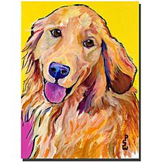 Pat Saunders 'Molly' Gallery-wrapped Canvas Art - Overstock™ Shopping - Top Rated Trademark Fine Art Canvas