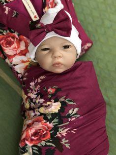 Playful Posies Pink Flora 0-6 Months Newborn Girls Snap-Up Sleeping Suit Gown