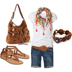 Weekend - cool website of clothing ideas. i love this so much. i think would be cute for camping. in a tent. thats right. NO CAMPER! Would probably be better for walking if the shoes were differnt. and the white shirt would prob get dirty... ug. never mind. i so over think things...