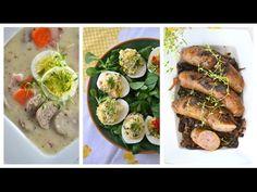 MENU WIELKANOCNE -śniadanie wielkanocne *** 14 przepisów *** - [Atlas Sm... Fresh Rolls, Ethnic Recipes, Youtube, Food, Easter Activities, Eten, Meals, Diet
