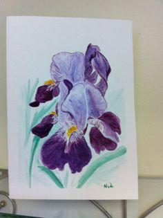 Handpainted original watercolor card by ArtReflectionsStudio, $5.00