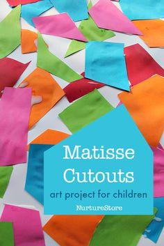 Henri Matisse cutouts art project for children :: The Snail art project for kids
