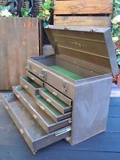 VINTAGE KENNEDY KITS MACHINIST INDUSTRIAL TOOL CHEST BOX CABINET 7 DRAWER