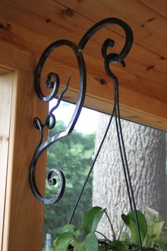 Hand Forged Plant Hanger by AmazingIronCreations on Etsy, $60.00