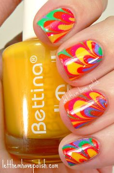 Let them have Polish!: Bettina Resort Collection Colorful Watermarble