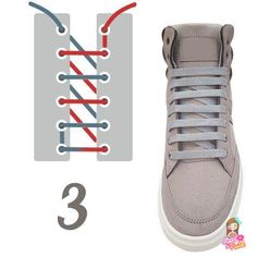 10 original ways to tie your laces (No. Ways To Lace Shoes, How To Tie Shoes, Style Masculin, Fashion Shoes, Mens Fashion, Tie Shoelaces, Lace Patterns, Estilo Retro, Diy Clothes