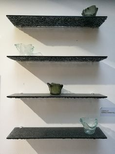 Mirrors and shelves - Essis Enclosed Patio, Toilet Room, Recycled Glass, Dark Grey, Floating Shelves, Recycling, Shed, Living Room, Mirror