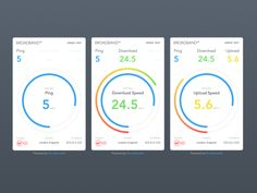 Speed test mobile UI