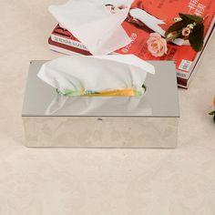 Stainless Steel Toilet Paper Box Bathroom Tissue Case