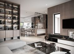 Duplexes on Behance Eclectic Living Room, Living Room Interior, Living Room Designs, Modern Interior Design, Interior Architecture, Home Office Design, House Design, Decorative Room Dividers, Apartment Interior