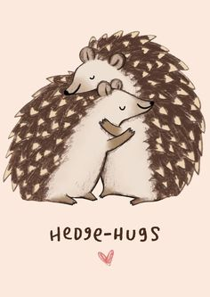 £2.99 | Sophie Corrigan #Hedgehugs #Pun #Illustration