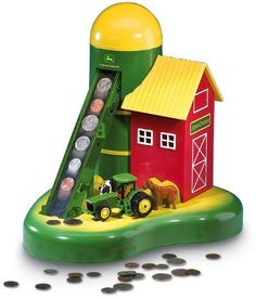 Connor just got this for his Birthday! It is so cool! John Deere® Action Coin Sorter Bank by John Deere, http://www.amazon.com/dp/B0017OAX8M/ref=cm_sw_r_pi_dp_MQWTpb0WCXYEE    Thank you Miss Stacey!