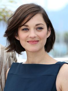 Marion Cotillard. I like her haircut and hair colour. #hairstyle