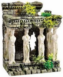 Seapets price  £33.99 Roman Maidens with Plants Aquarium Ornament Classic Brand -This range is generally of a higher quality than most available but still priced sensibly. Suitable for all tropical and coldwater aquariums.  Size 325mm high x 260mm long x 170mm wide
