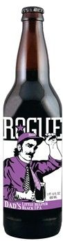 Cerveja Rogue Dad's Little Helper, estilo Black IPA, produzida por Rogue Ales Brewery, Estados Unidos. 7% ABV de álcool.