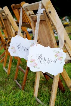 INSTANT DOWNLOAD Rustic Floral Reserved Place Card by ItsyBelle, $5.50