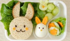 bunny rabbit easter lunch box fun food art for kids Lunch Menu, Lunch Box, Kids Meals, Easy Meals, Food Art For Kids, Easter Lunch, Rabbit Food, Bunny Rabbit, Easter Recipes