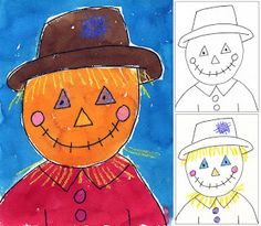 Art Projects for Kids: Scarecrow Portrait