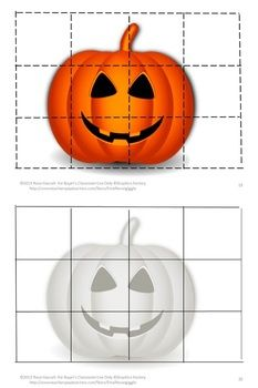 Halloween Cut and Paste Puzzles: Halloween is an exciting time for kids. They love dressing up as their favorite character. And, of course, there is the candy that is big part of Halloween. The fun can begin with this Halloween Cut and Paste Puzzles.