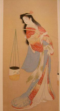 上村松園 - Google 検索 Hiroshi Yoshida, Japan Painting, Illustration Art, Illustrations, Japan Art, Woodblock Print, Chinese Art, Geisha, Manga Anime