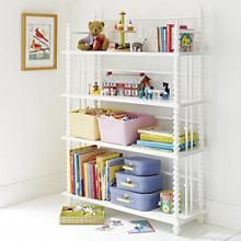 The Land of Nod | Kids' Bookcases: Kids White Jenny Lind Spindle Bookcase in Jenny Lind Collection