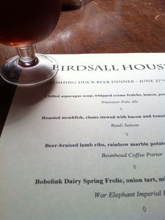 #rushingduck beer dinner 6/27 www.birdsallhouse.net/events