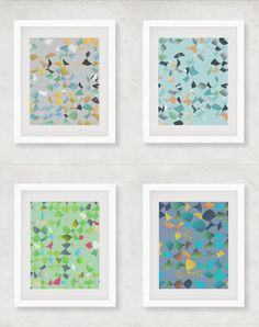 Set of 4 prints, print set of four, modern art set, quadri, print download, set of 4 wall art, four 8x10 print downloads, matching wall art