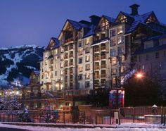 Pan Pacific Whistler Village Centre - because it's right smack in the middle of all the action!