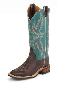 Justin Bent Rail Chocolate Puma Tall Cowgirl Boots