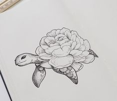 Turtle / Flower Tattoo – Tattoo Inspiration of Westend Tatt . Best wildlife ideas tattoos – flower tattoos - diy tattoo images - Turtle / Flower Tattoo, Tattoo Inspiration of Westend Tatt Best wildlife ideas tattoos flowe - Small Flower Tattoos, Flower Tattoo Designs, Small Tattoos, Flower Design Drawing, Turtle Tattoo Designs, Turtle Tattoos, Diy Tattoo, Tattoo Ideas, Compass Tattoo
