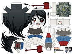 Adventure Time - Marceline Paper Doll In Chibi Style - by Joey Vazquez -- Mexican designer Joey Vazquez, aka El Joey, created this really cool paper doll in Chibi style of Marceline, the vampire girl from Adventure Time animation. 3d Paper Crafts, Diy Arts And Crafts, Paper Toys, Paper Art, Rainbow Dash, My Little Pony Equestria, Papercraft Anime, Paper Dinosaur, Adventure Time Marceline