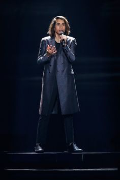 Isaiah Firebrace performs at the 62nd Eurovision Song Contest at International Exhibition Centre (IEC) in Kiev, Ukraine 2017