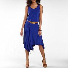 Allen B.® High-Low Hem Belted Dress - jcpenney