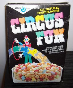 It's circus fun right in your bowl and you will want to come try it...Horses and hoops and balls and bears...elephants and lions...RAR...LOVED this cereal!  :)