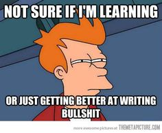 How I feel about writing papers in college…