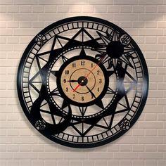 Retro Star Vinyl Record Clock