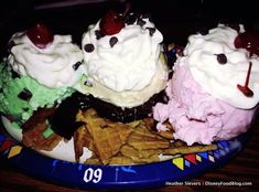 Ice Cream Nachos from Disneyland - brilliant!