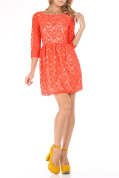 Shoshanna Dress In Burnt Orange.