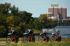 Trixi Worrack of Germany leads the Velocio-SRAM team on their way to winning the Women's Team Time Trial on day one of the UCI Road World Championships on September 20, 2015 in Richmond, Virginia. #Richmond2015 #rm_112