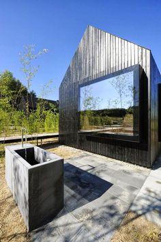 Refúgio germânico de madeira Vista e décor colaboram para relaxamento