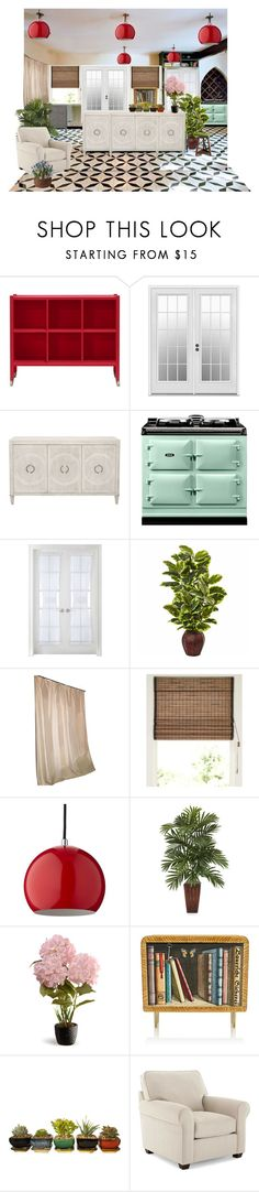 """Placing furniture in the room is fun"" by hiroko-eirai ❤ liked on Polyvore featuring interior, interiors, interior design, home, home decor, interior decorating, Liz Claiborne, Restoration Hardware, National Tree Company and Fornasetti"