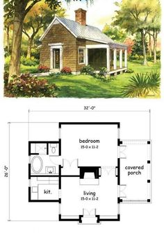 Sims House Plans, Small House Floor Plans, Cabin Floor Plans, Tiny House Cabin, Tiny House Living, Cottage House Plans, House Blueprints, Cabins And Cottages, Small House Design