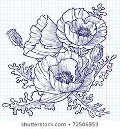 Find Bouquet Red Poppies Doodle Version stock images in HD and millions of other royalty-free stock photos, illustrations and vectors in the Shutterstock collection. Poppy Drawing, Dibujos Zentangle Art, Azulejos Art Nouveau, Poppy Bouquet, Bouquet Tattoo, Poppies Tattoo, Ink Pen Drawings, Flower Drawings, Flash Art