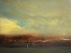 """Maurice Sapiro; Painting, """"Gardiners Island"""""""